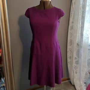 Anne Klein purple fit and flare dress